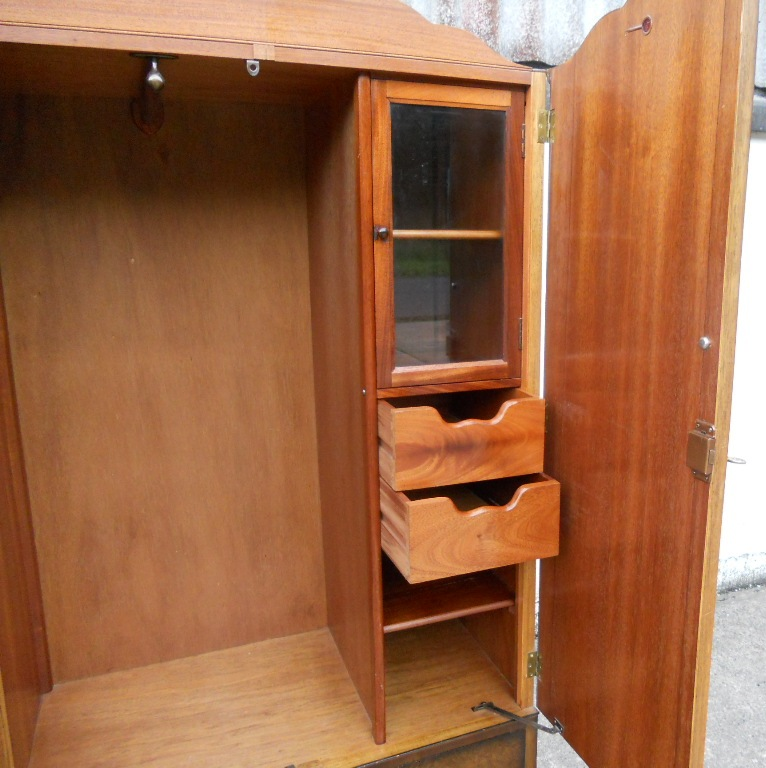 Kitchen Cabinets Metal Old Golden Key Wardrobe Walnut Fitted Two Door In The Queen